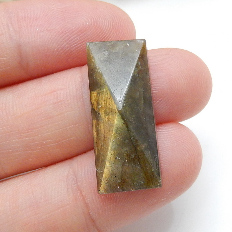 Flash Labradorite ,Handmade Gemstone ,Faceted  Labradorite ,Lucky Stone C17