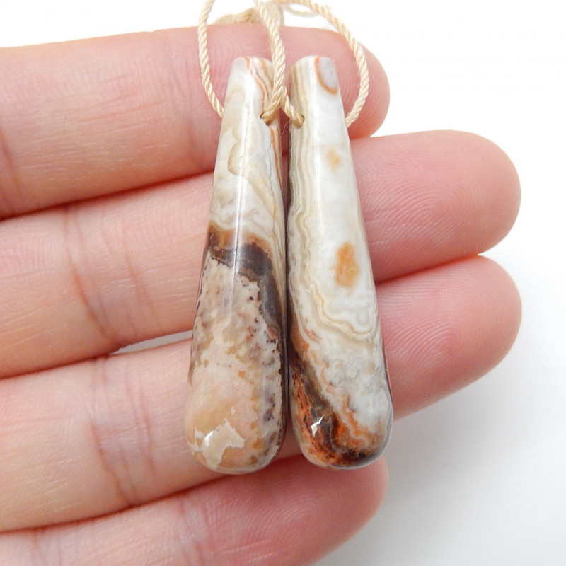 Rich In Color Natural Crazy Lace Agate Earring Beads ,Summer Stone C185