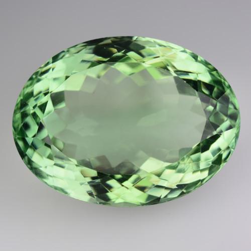 43.65 Cts Natural Green Prasiolite / Amethyst Oval Cut Brazil