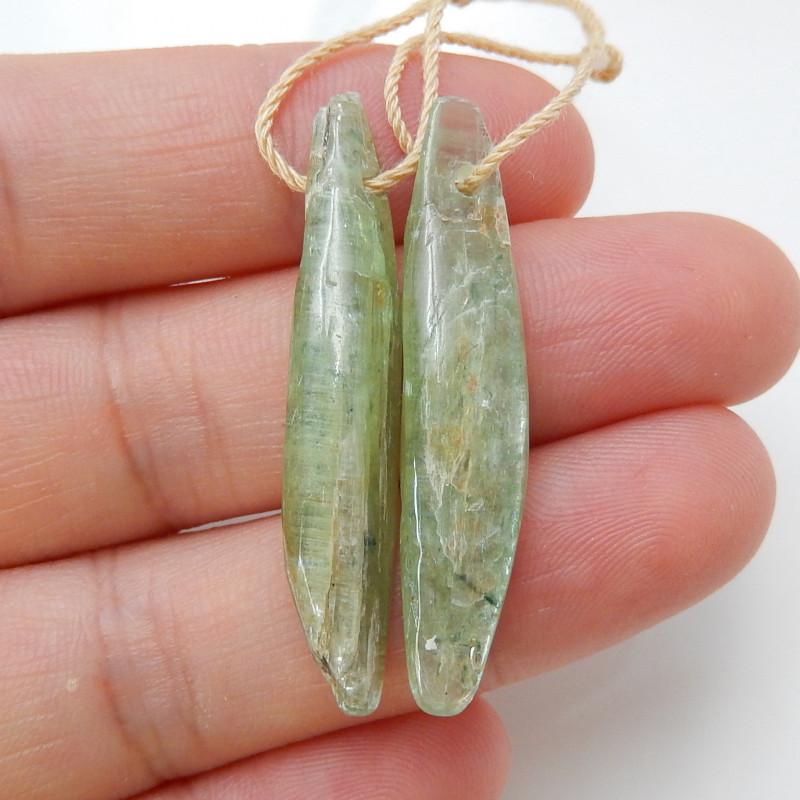 32cts Green kyanite Earrings,Healing Crystals,Protection Crystal,Blue Kyani