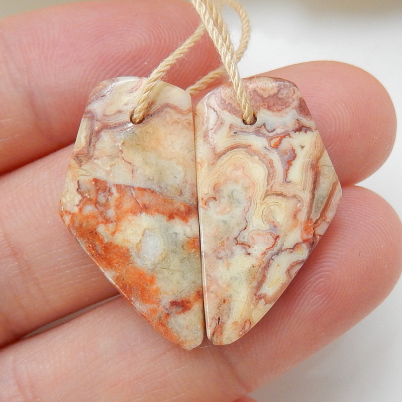 18cts Natural Nugget Agate Earrings,Handmade Gemstone ,Lucky Stone C198