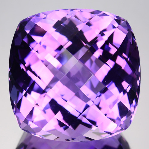 45.48 Cts Natural Purple Amethyst Cushion (Checkerboard Cut) Bolivia