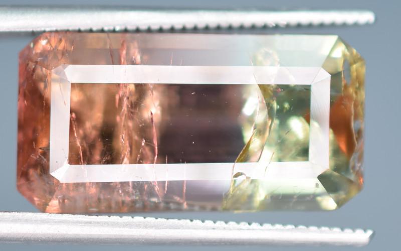 9.45 Carats Bi Color Tourmaline Gemstones