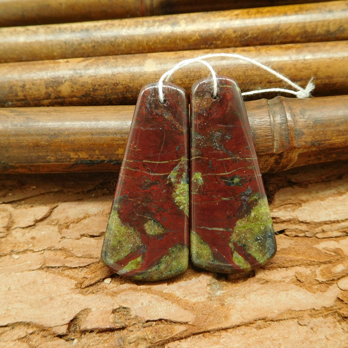 New arrival dragon bloodstone jewelry earring bead for women gift(G0034)