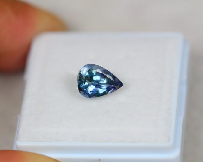 1.40ct Greenish Violet Blue Tanzanite Pear Cut Lot D209
