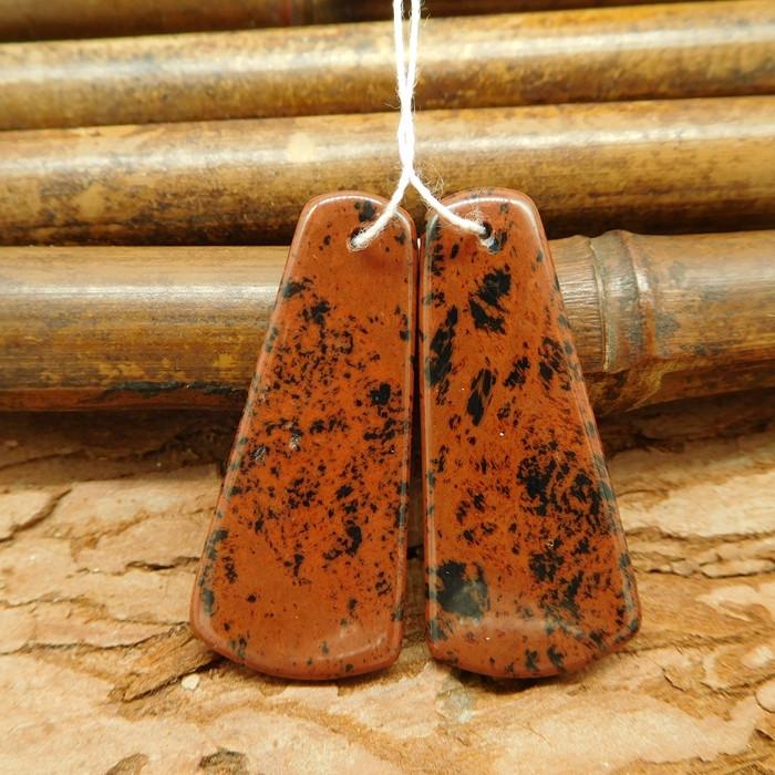 Mahogony obsidian earring beads pair earrings for women natural gemstone(G0