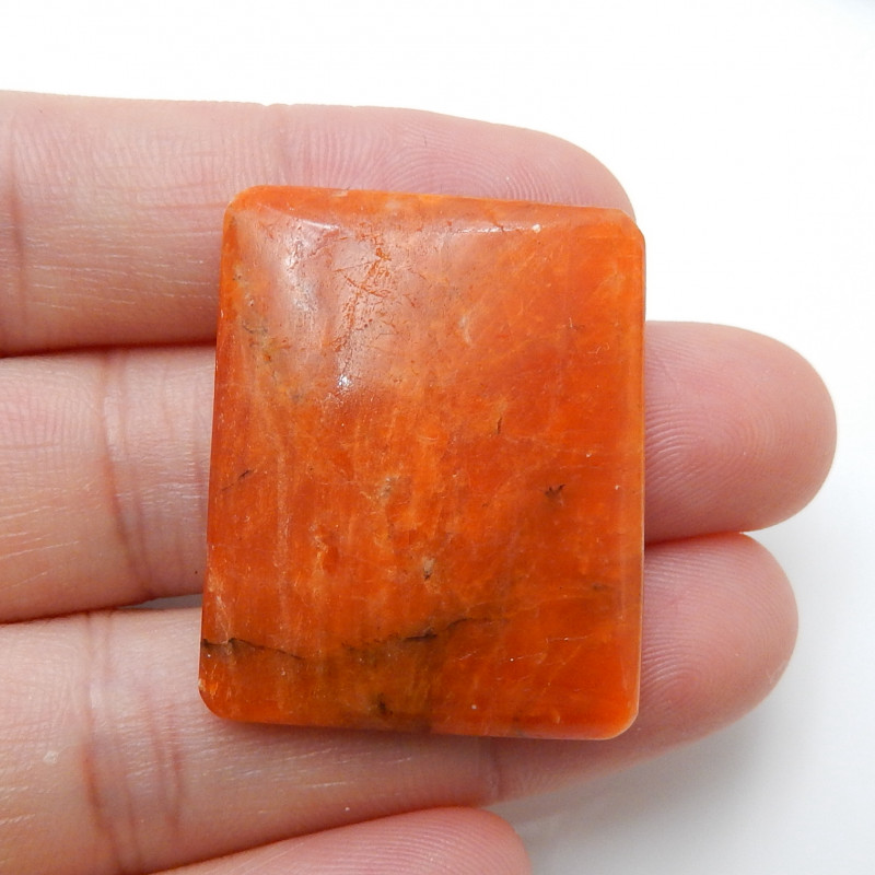 Orange Gemstone ,Birthday Stone ,Rhodochrosite Cabochon ,Summer Stone C220
