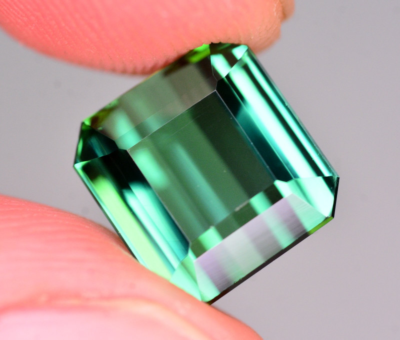 Amazing Color 6.30 Ct Natural Bluish Green Tourmaline .AT2