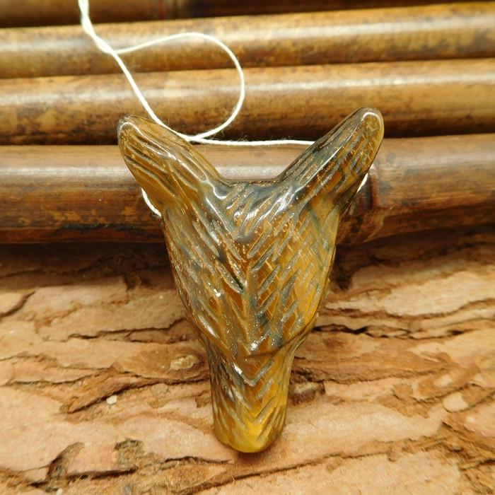Carved tiger eye pendant carving wolf bead bracelet jewelry customized anim