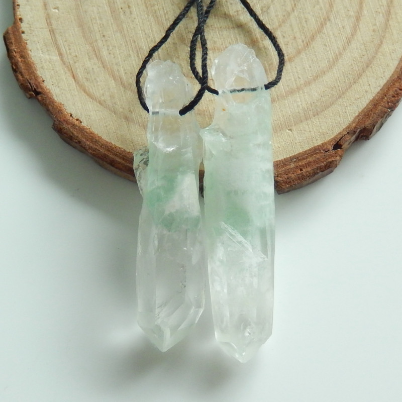 New Natural Crystal Earrings ,Nugget Earring Pairs ,Healing Stone C257