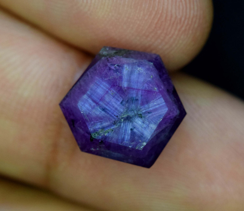 Rarest 10.65 ct Pink Kashmir Sapphire Trapiche