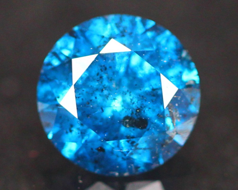0.97Ct Fancy Vivid Blue Natural Diamond A3007