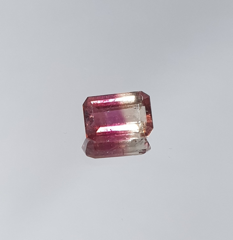 1.12 ct Bicolor Tourmaline Octogone  7.8x5.5mm(SKU 85)
