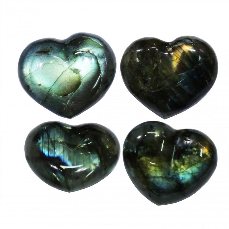 284.65CTSLABRADORITE HEART  PARCEL