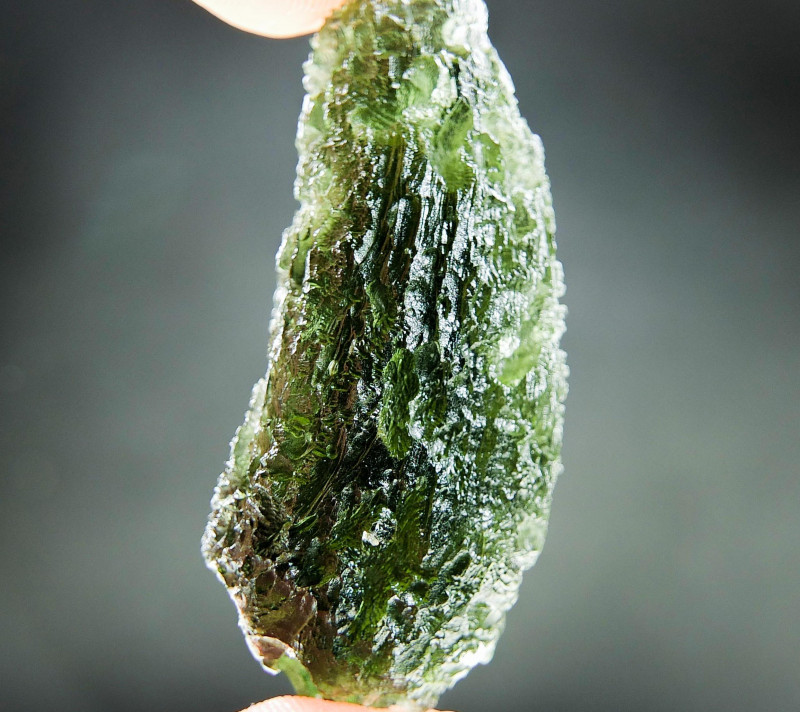 Big Natural Moldavite CERTIFIED
