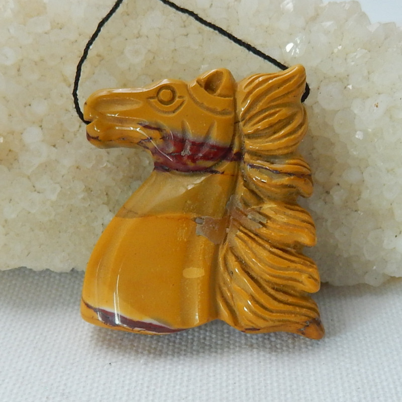 Great Craft Carved Horse Pendant,Hand Carved Mookite Pendant C322
