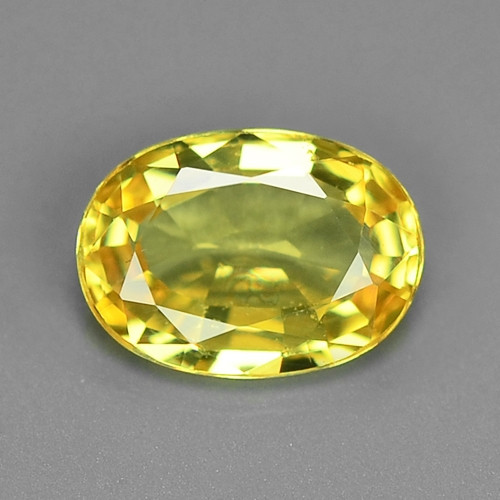 0.98 Very Rare Yellow Color Natural Sapphire Loose Gemstones