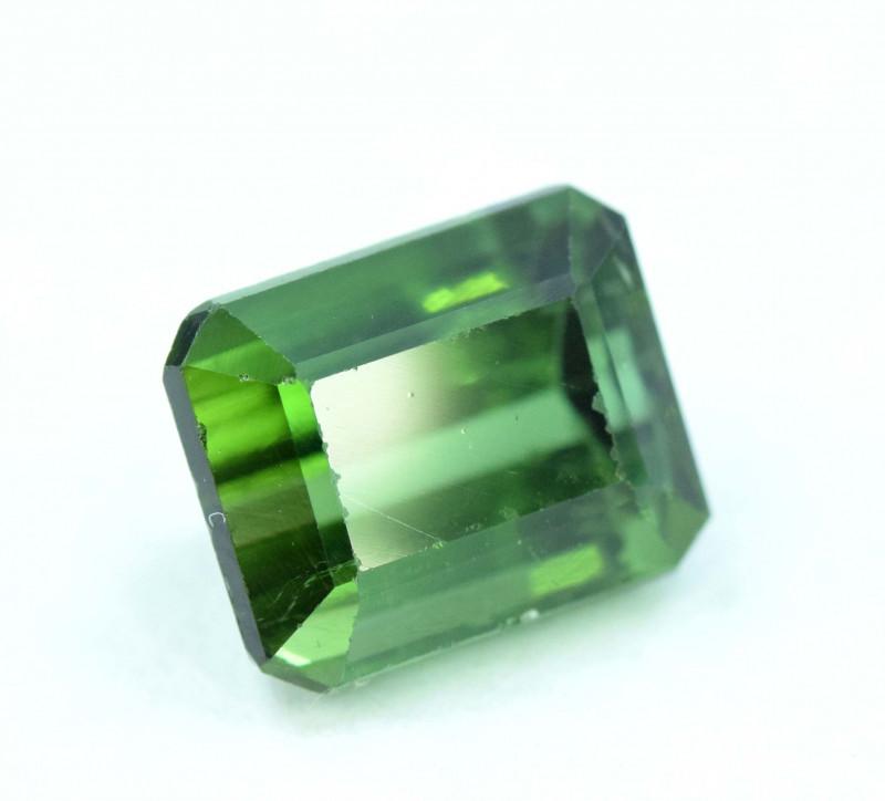 3.25 cts Emerald Step Cut  Natural Green Tourmaline Gemstone