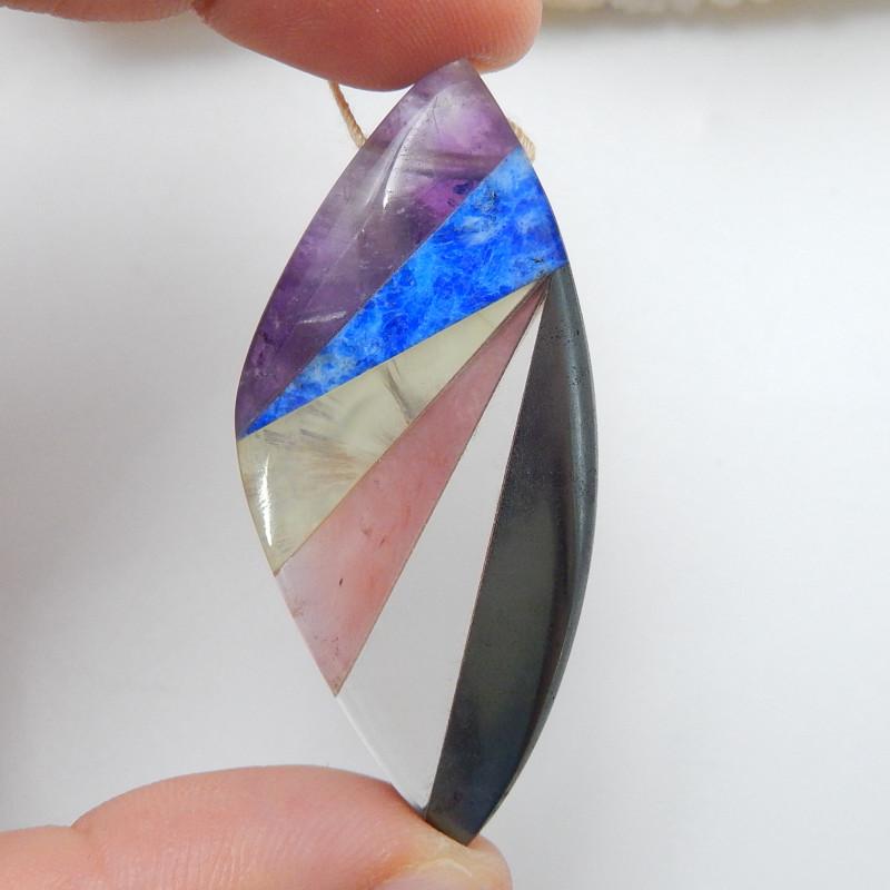 New Arrival Intarsia Pendant Bead ,Colorful Jewelry ,Handmade C359