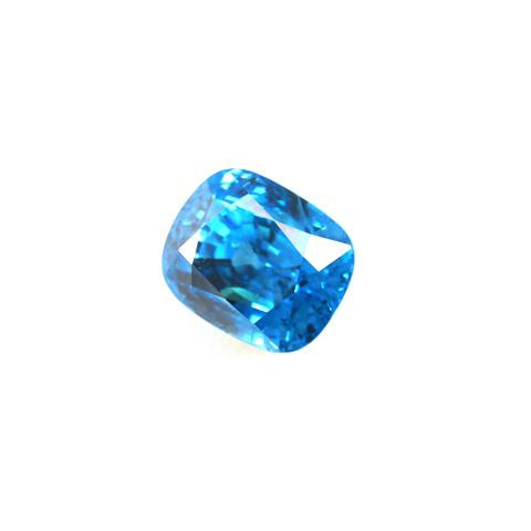 CERTIFIED 10.28ct Cushion Cut Natural Blue Zircon