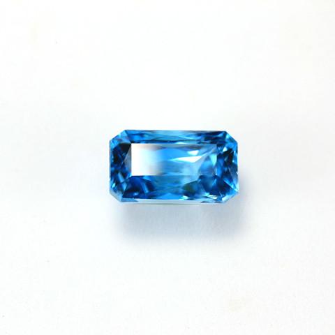 CERTIFIED 10.35ct. BLUE ZIRCON