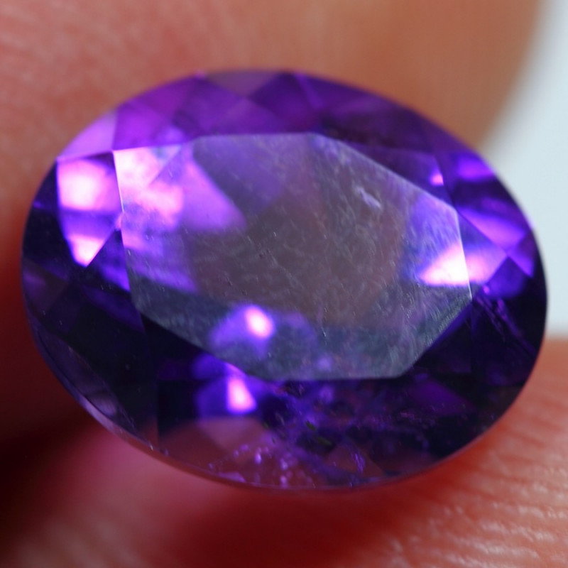 3.50cts Sparkle Africa Amethyst Faceted Cutting Gemstone