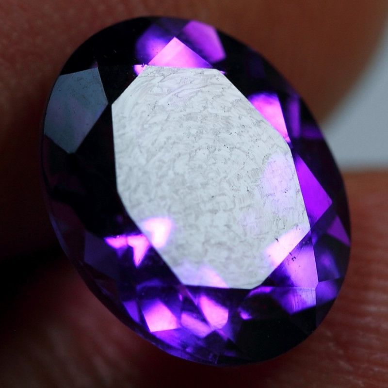 3.10cts Amazing Dark Purple Africa Amethyst Faceted Cutting Gemstone