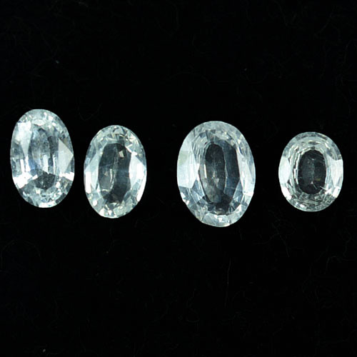 2.04Ct Natural White Sapphire Oval Parcel