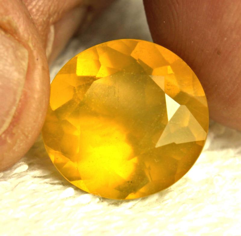 11.24 Carat Honey Gold Mexican Fire Opal - Gorgeous