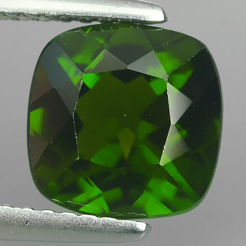 AWESOME 2.70 CTS AMAZING NATURAL RARE LUSTROUS CHROME DIOPSIDE CUSHION GEM!
