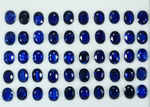 88.62Ct Natural Royal Blue Kyanite Oval 8 X 6mm Calibrated Parcel Nepal