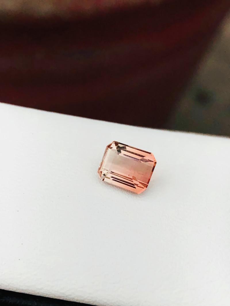 1.50 Ct Natural Bi Color Transparent Tourmaline Ring Size Gemstone