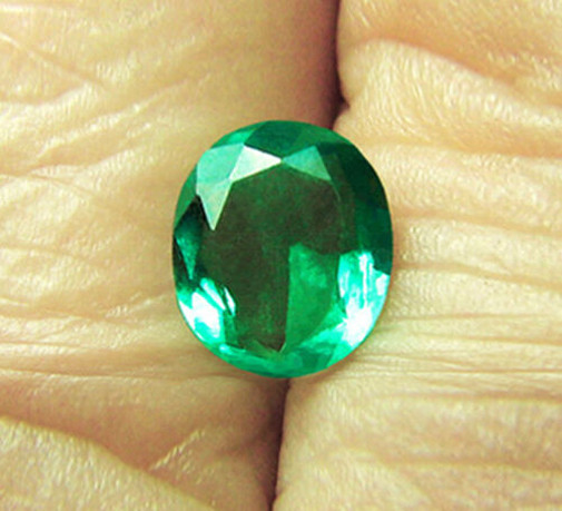 High-End! 1.88 ct Magnificent Zambian Emerald Certified!