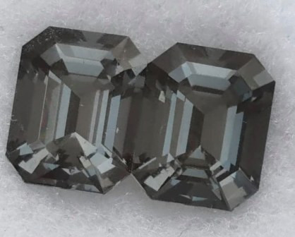 Custom Cut 4.29ct Grey Spinel Pair - Burma