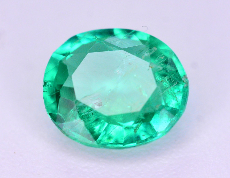 Gorgeous Color 0.30 Ct Natural Emerald From Panjsher. ARA