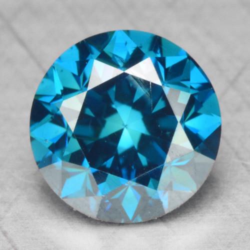 0.47 Cts Fancy Vivid Blue Color Natural Loose Diamond