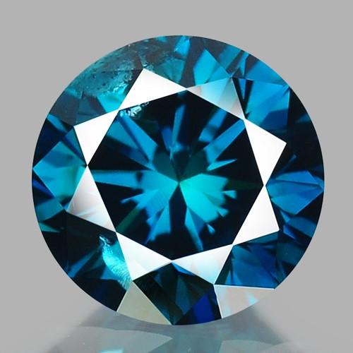 0.46 Cts Fancy Vivid Blue Color Natural Loose diamond sI2