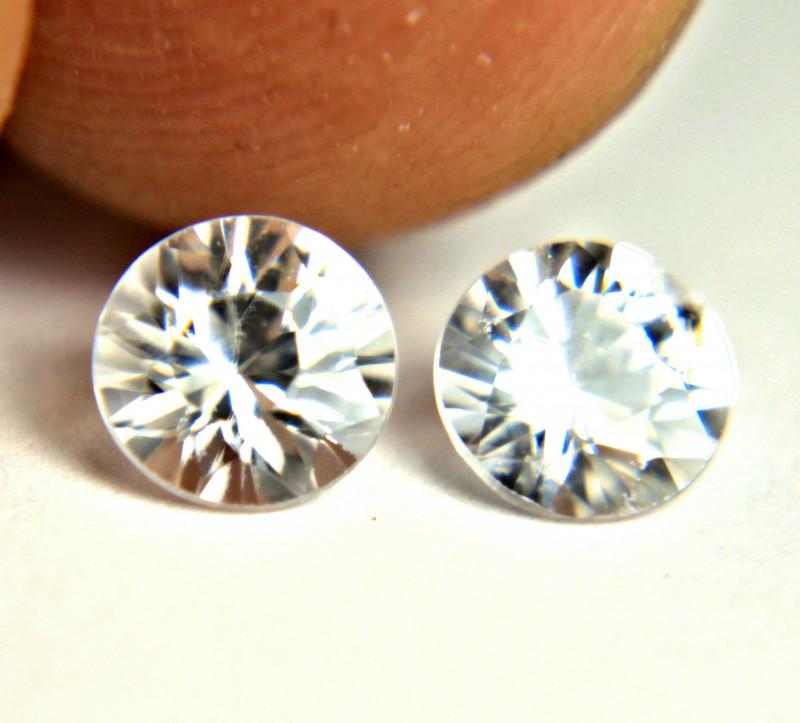 1.77 Carat Matched White VVS Zircons - Gorgeous