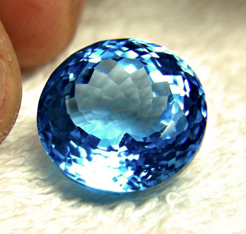 28.5 Carat Blue Brazilian VVS Topaz - Gorgeous