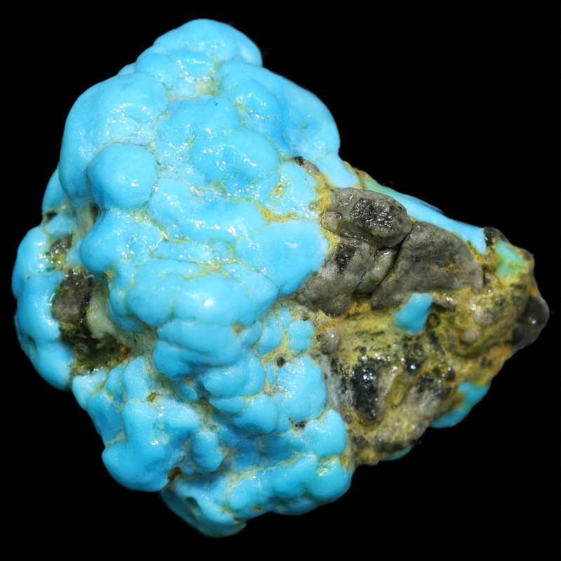 93 CTS TURQUOISE KING MAN  ROUGH STABILIZED [F7907]