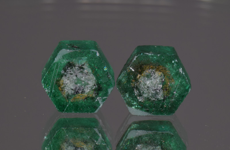 Natural Emerald Slices Pair 4.66 Cts
