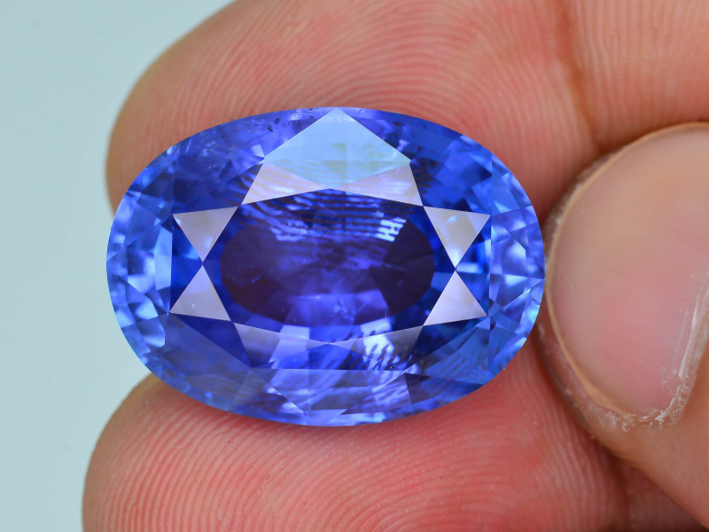 AIGS Certified AAA Grade & Color 24.14 ct Royal Blue Sapphire