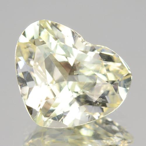 1.45 Cts Unheated Natural Yellow Sapphire Heart Cut Ceylon - Sri Lanka