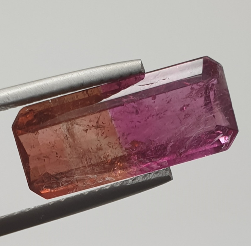 6.79 ct Amazing Bicolor Orange Pink Rare Tourmaline(SKU 73)