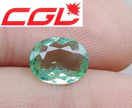 CLEAN! CGL-GRS Unheated 1.84 CT NEON Green Kunar Tourmaline $250