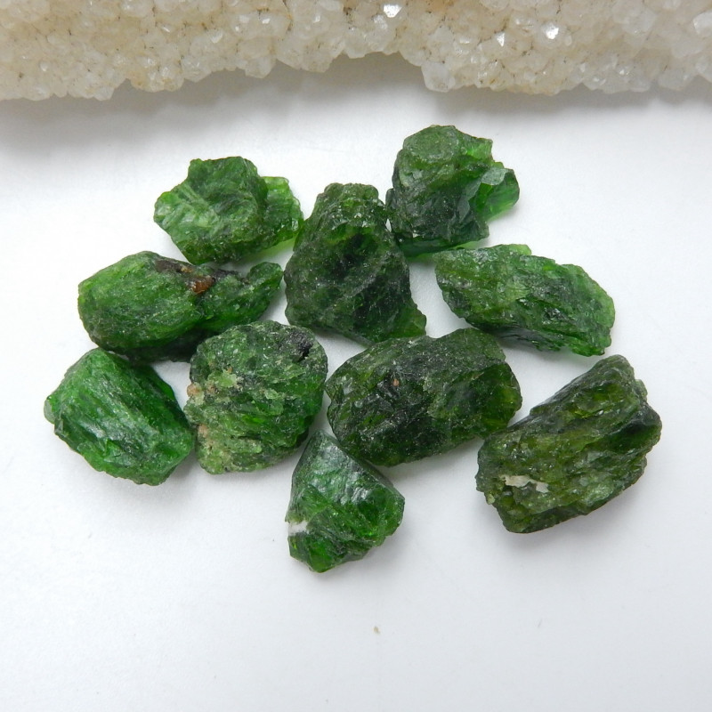 94cts Handmade Green Gemstone ,Dioptase Cabochons ,Lucky Stone C447