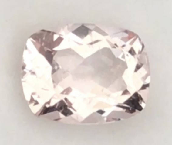 Pinkish Peach Rectangular Cushion Cut Morganite G545