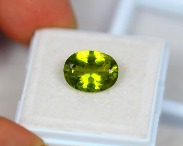 3.90Ct Natural Green Peridot Oval Cut Lot LZ6357