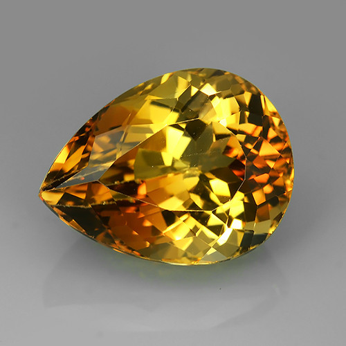 26.90 cts AAA Stunning pear Shape Brazilian Champion Topaz Gemstone