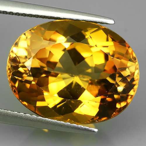 15.65  cts Excellent oval cut Brazilian Champion Topaz Gemstone